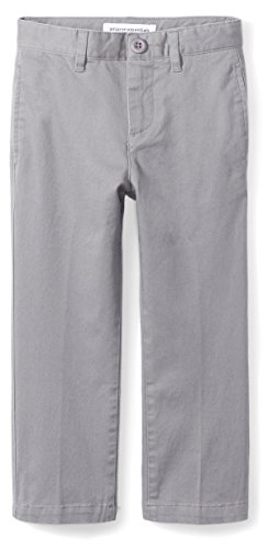 Amazon Essentials Straight Leg Flat Front Uniform Chino Pant Pants, Gris, 14(S)