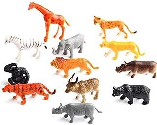 fec7f500143f MTSZZF Figuras de Juguete de Animales de la Selva Salvaje, 12 Piezas