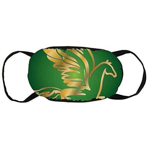 Stofvervuilingsmasker, Antiek Vliegend Paard Pegasus, Zwart Oor Pure Katoen masker, Geschikt voor Mannen en Damesmaskers