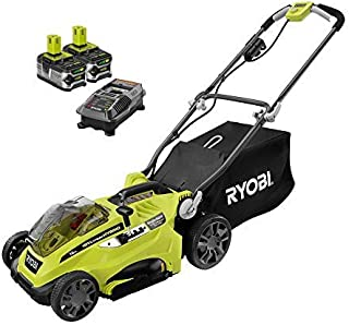 Ryobi 16 in. One+ 18-Volt Lithium-Ion Hybrid Walk Behind Push Lawn Mower Two 4.0 Ah Batteries & Charger Included (Bulk Packaged)