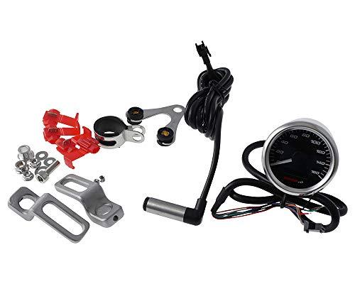 Tachometer KOSO GP Style Analog/Digital Rund Chrom 160km/h