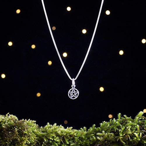 Sterling Silver Tiny Pentagram, Pentacle - (Charm Only or Necklace)