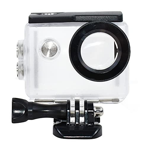 tekcam cámara de acción impermeable Funda para AKASO ek7000/Eken h9r/fitfort 4K/DBPOWER EX5000deportes cámara bajo el agua 30m protectora caso de vivienda