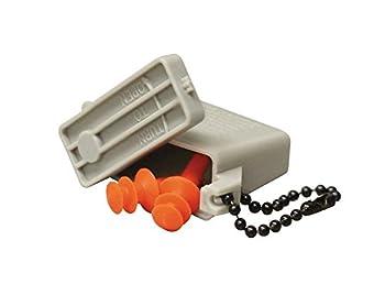 US Military GI Earplugs Plastic Case / Chain