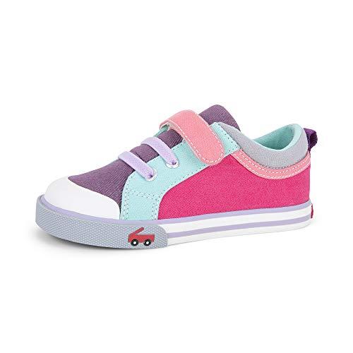 See Kai Run, Kristin Sneakers for Kids, Purple/Berry, 7 M Toddler