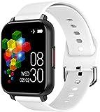 Reloj inteligente de 1 pantalla fina y ligera de 3 pulgadas, recordatorio de llamadas de larga duración para Android y iOS, color blanco