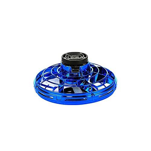 CREACEC UFO Mini Drone Giocattolo Volante, Bambini Mini Drone Flying Palla Giocattolo sensore a Mano USB Ricaricabile a LED Luce Giocattolo Leggero,Blu