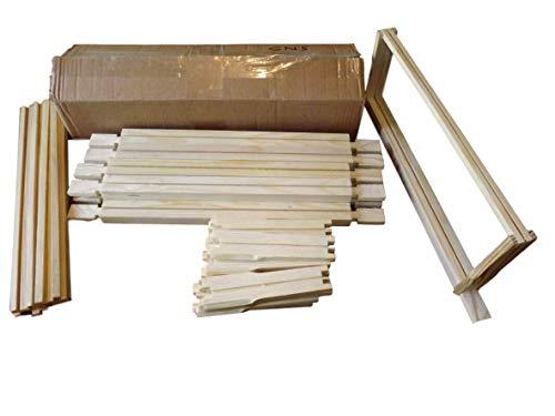 10 x SN5 Super Marcos con barras laterales separadas Hoffman – para colmenas británicas nacionales – embalaje plano – con clavos