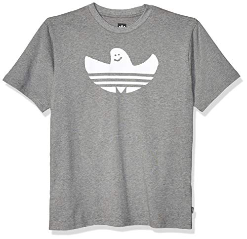 adidas Originals Herren Skate Shmoo Tee Grafik, T-Shirt, Kern-Heather/White, X-Klein