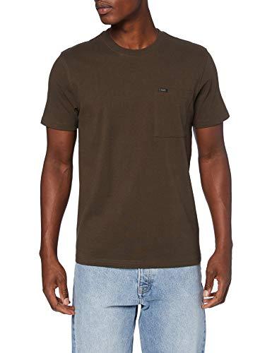 Lee Mens SS Pocket Tee T-Shirt, Turkish Coffee, M