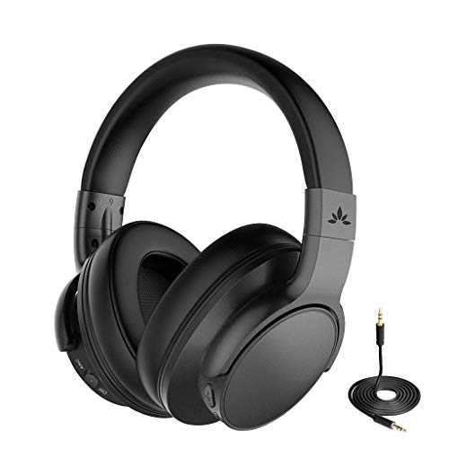 Avantree ANC031 Hi-Fi Sound Active Noise Cancelling Bluetooth Headphones Over Ear for Airplane Travel Mowing, Wireless Wired ANC Sound Cancelling Headset with Mic, Fast Stream for TV PC Computer Phone