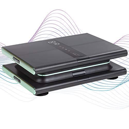 skandika Vibrationsplatte Sunna   modernes Design   kompakt und platzsparend, bis 20 Hz, inkl. Fernbedienung, LCD-Display, 20 Levels, 3 + 1 Programme   Gewicht reduzieren & Muskeln aufbauen