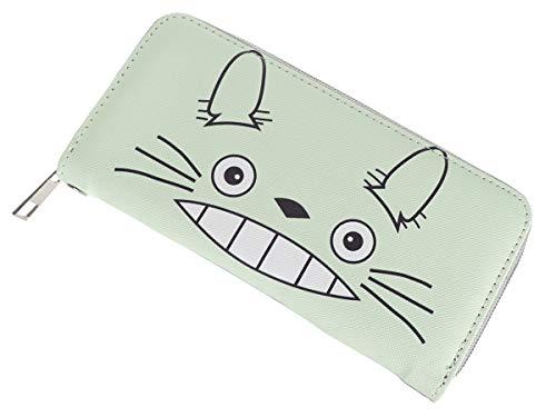 CoolChange Langes Totoro Portmonee mit Kleingeldfach, Reißverschluss Geldbörse, Manga Portemonnaie, Design: B, Weiß