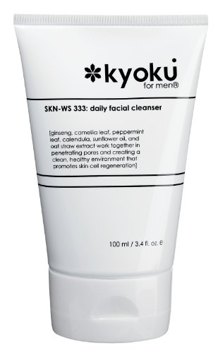 Facial Cleanser For Men By Kyoku For Men Skin Care For Men Face Wash, Kyoku Skin Care Products For Men (3.4oz)
