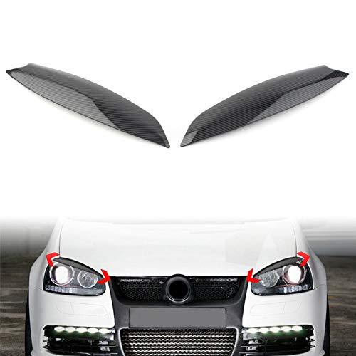 KSUVR Carbon FiberCar Augenlid Augenbrauenabdeckung Styling Scheinwerferblenden, Für VW Golf 5 GTI R32 MK5 2005 2006 2007