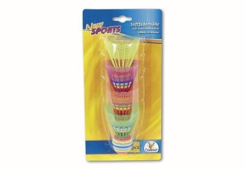 New Sports Soft-Federbälle, bunt, 4 Stück
