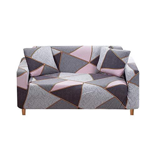 Sofa Cover Funda de sofá elástica, moderna, color liso para salón, sofá esquinero seccional, funda de silla Protector de sofá 1/2/3/4 plazas, morado 3 seater 190-230 cm