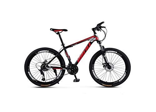 Bicicleta de Montaña Unisex Hardtail Bicicleta de Montaña Bastidor de Acero de Alto Carbono Bicicleta Mtb de 26 Pulgadas Bicicleta de Montaña 21/24/27/30 Velocidades con Frenos