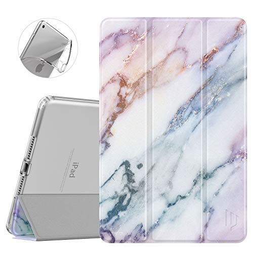 Dadanism iPad Mini 5 Case 5th Generation 2019 Case/iPad Mini 4 2015, Flexible TPU Translucent Back Case, Slim Lightweight Protective Shell Stand Smart Cover - Purple Marble (Auto Sleep/Wake)