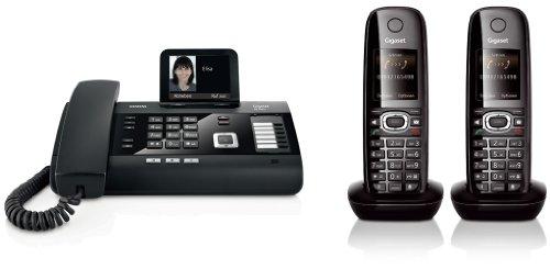 Siemens Gigaset DL500A DUO SET mit 2x C59H Mobilteil – analog, Anrufbeantworter, Bluetooth® ECO DECT, schwarz