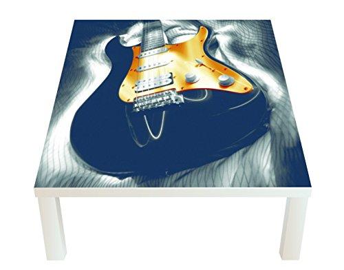 Klebefieber Design-Tisch Goldene Gitarre B x H: 55cm x 55cm