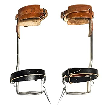 TOMCHY Tree Climbing Spikes Non-Slip Tree Climbing Spurs Like Boots Suitable for High-Altitude Logging Fruit Picking Outdoor Hunting 1 Pair