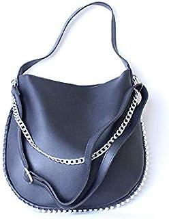 لينز حقيبة طويلة تمر بالجسم نسائية ، جلد صناعي - اسود