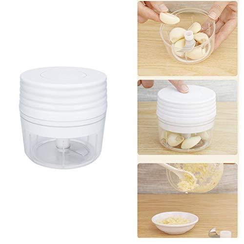 Mini Food Processor Elektrischer Zerkleinerer Küche Elektrisch Multizerkleinerer Gemüsehacker Mini Mixer von Obst/Gemüse/Knoblauch/Fleisch/Zwiebeln für Babynahrung, USB wiederaufladbar