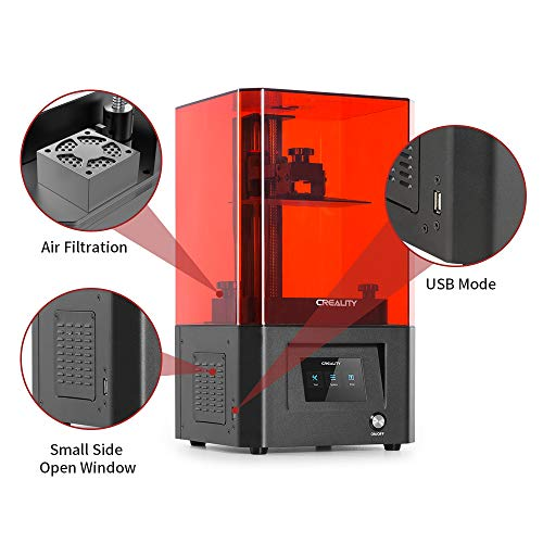 Creality LD-002H Mono LCD Resin 3D Printer UV Photocuring SLA 3D Printer with High Precision 6.08 Inch 2K Monochrome LCD and Advanced Light Source, Large Printing Size 5.12x3.23x6.3inch