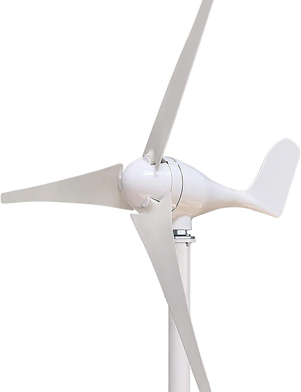 LXNQG Generador de turbina eólica de 600W con 3 Cuchillas 1 2V / 24V Velocidad de Viento bajo de Viento de Viento con Controlador, Molino de Viento para Marina RV Casas Industrial-24V (Color: 12V)