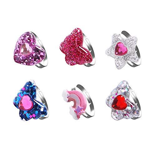 Bambini farfalla anello–bambino arcobaleno–Anello regolabile Little Girls Jewelry Set