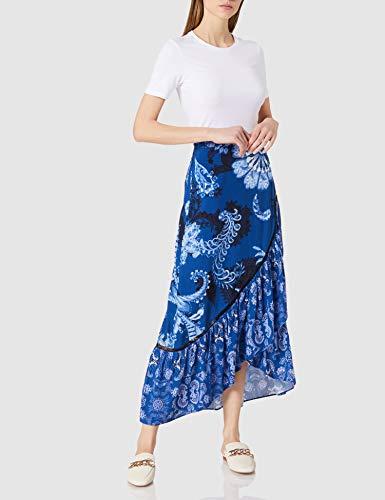 Desigual Fal_NEREA Falda, Azul, M para Mujer