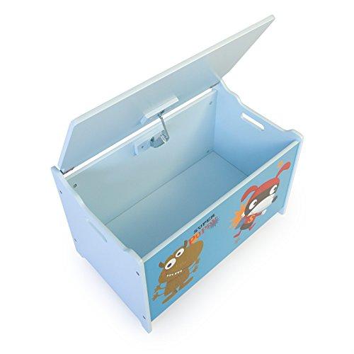 Homestyle4u Spielzeugkiste Schmetterling Spielzeugtruhe, 60x35x38cm - 3