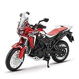 LYXin Escala 1:18 Modelo de Motocicleta Juguete aleación Motocross Motocicleta Doble DCT CRF1000L niños Motocicleta