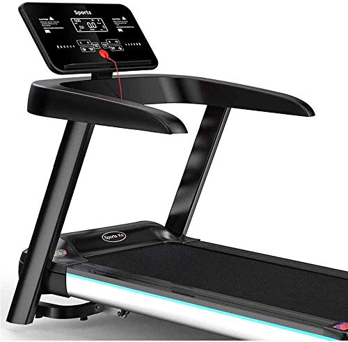 L.BAN Laufband faltbares Laufband 2,5 PS Desktop-Laufband mit Bluetooth-Lautsprecher und LED-Anzeige