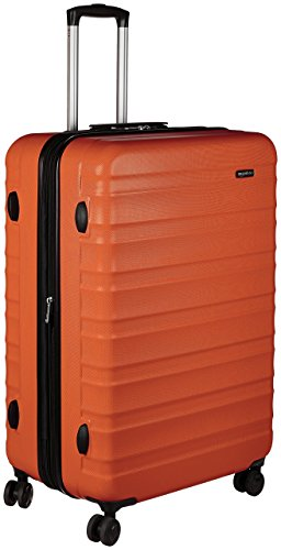 AmazonBasics Hardside Spinner, Carry-On, Expandable Suitcase Luggage with Wheels, 30 Inch, Orange