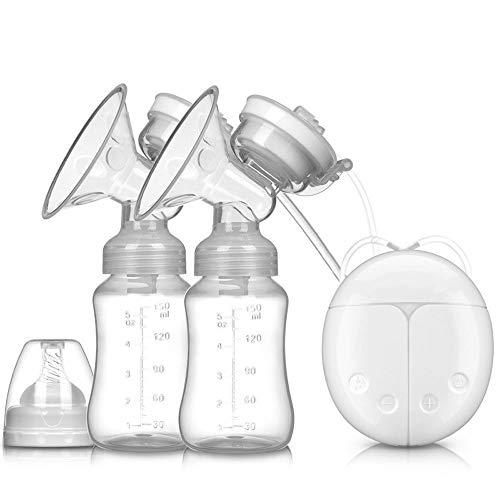 Double tire-lait électrique, pompe à lait portable, double pompe électrique pour allaitement, massage du sein avec 2 modes d'aspiration et 9 niveaux d'aspiration réglables pour le confort de maman