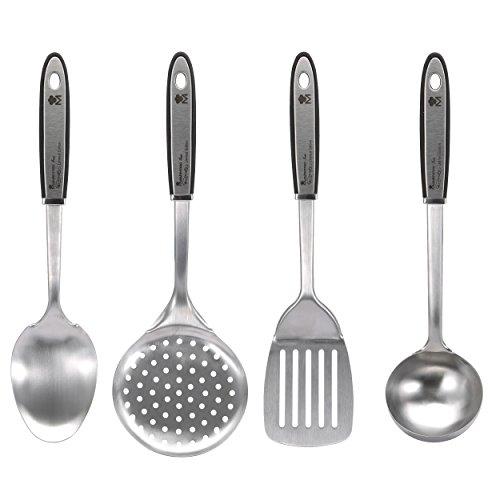 Bergner Gravity Accesorios de Cocina, Acero Inoxidable, Cromado Mate, Set 4, 4 Unidades