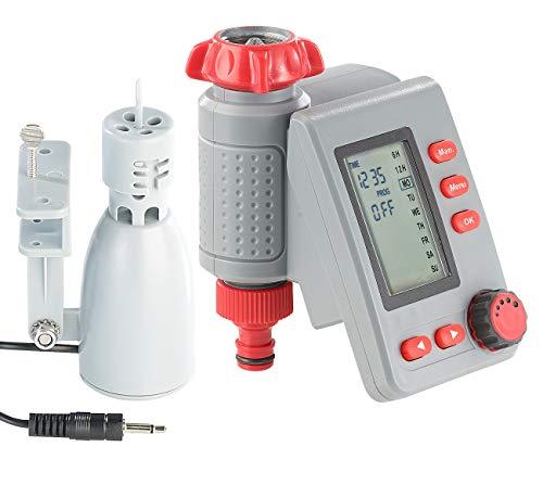 Royal Gardineer Bewässerungsautomat: Digitaler Bewässerungscomputer mit Magnet-Ventil und Regensensor (Garden-Bewässerungscomputer)