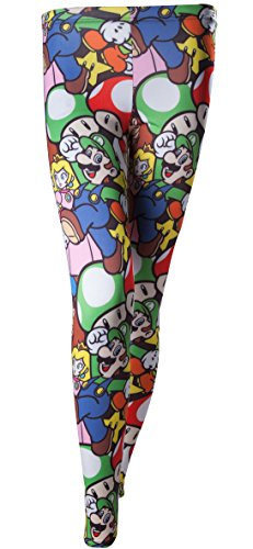 Nintendo Leggings Super Mario Bros. Größe S all-over-print Damen Legging Hose