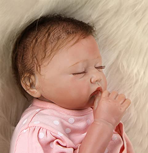 ZIYIUI Reborn Baby Dolls Girl Realistic Silicone Baby Doll Handmade Reborn Babies (Contains Multiple Toy Accessories)