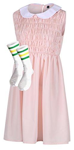 Vestido e meias Eleven da The Cosplay Company, Pêssego, 10