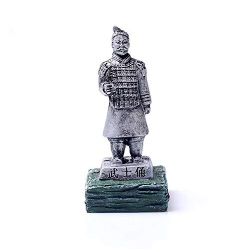 YANGYUAN Samurai El ejército de Terracota del Primer Emperador de China de China Xian (Color : Silver)