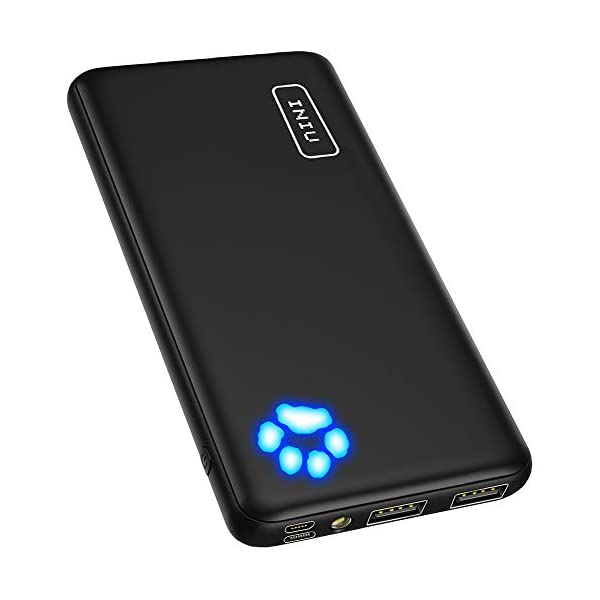 INIU Power Bank, Ultra-Slim Dual 3A High-Speed Portable Charger, 10000mAh USB C Input...