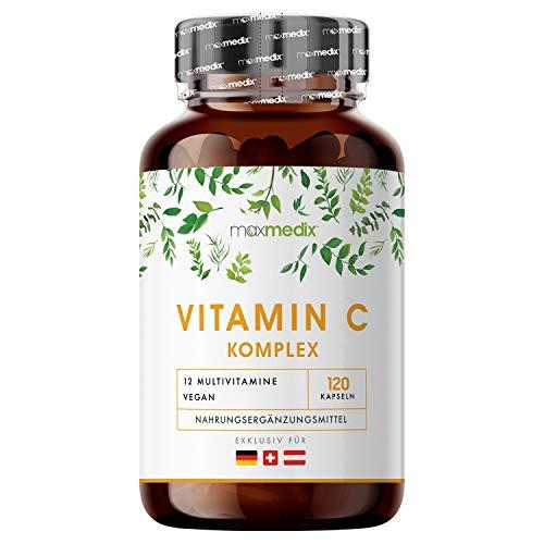 EINFÜHRUNGSPREIS 2020 Premium Vitamin C Komplex - Zutaten Laborgeprüft & Hochdosiert mit Zink, Selen, Vitamin B, Magnesium & Eisen - 120 Natürliche Kapseln ohne Zusätze - Multivitamin Vegan