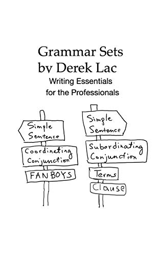 Grammar Sets: Writing Essentials for the Professionals (1) (English Edition)
