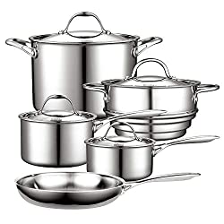 silver Cooks Standard NC-00232 Stainless Steel 12-Piece Multi-Ply Clad Cookware Set Review
