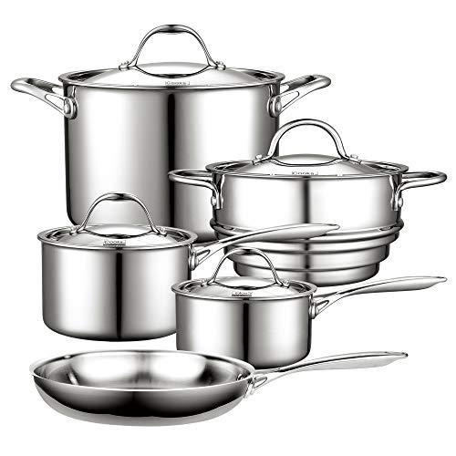 Cooks Standard NC-00232 12-Piece Multi-Ply Clad Stainless-Steel Cookware Set: Kitchen & Dining