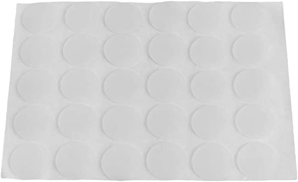 CUTICATE Self Adhesive White Door Bumpers Pads Doorstops 30pcs 15x1mm