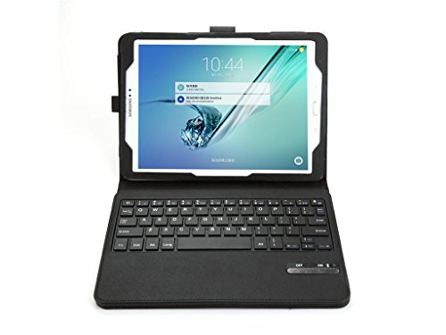 fenrad iPad Mini 4 Teclado Bluetooth Funda Extraíble Teclado Bluetooth (QWERTY) Soporte Folio Case Cover para Apple iPad Mini 4/iPad Pro/Samsung Tab S2 8.0 T710 Tablet PC (Negro)